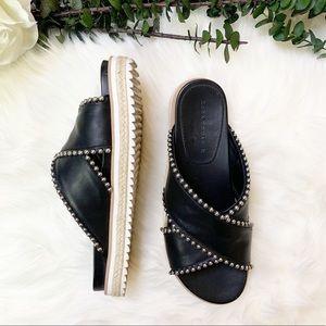 Zara Beaded Slide Mule Sandals